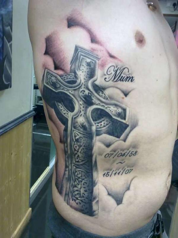 Celtic-Cross-Torso-Tattoos