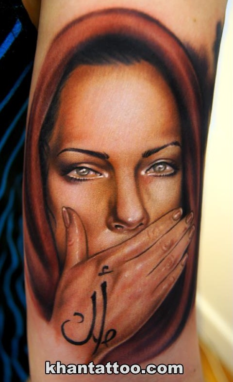 portrait tattoo Khan
