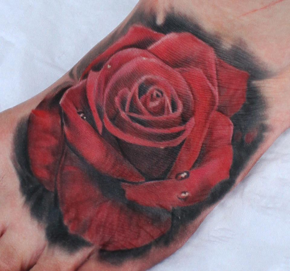 tumblr-realistic-red-rose-tattoo-on-foot