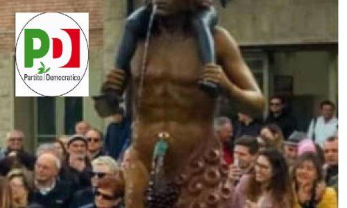 Esigono ordine e rispetto mentre erigono statue di satana con il pene in erezione con un bambino sulle spalle